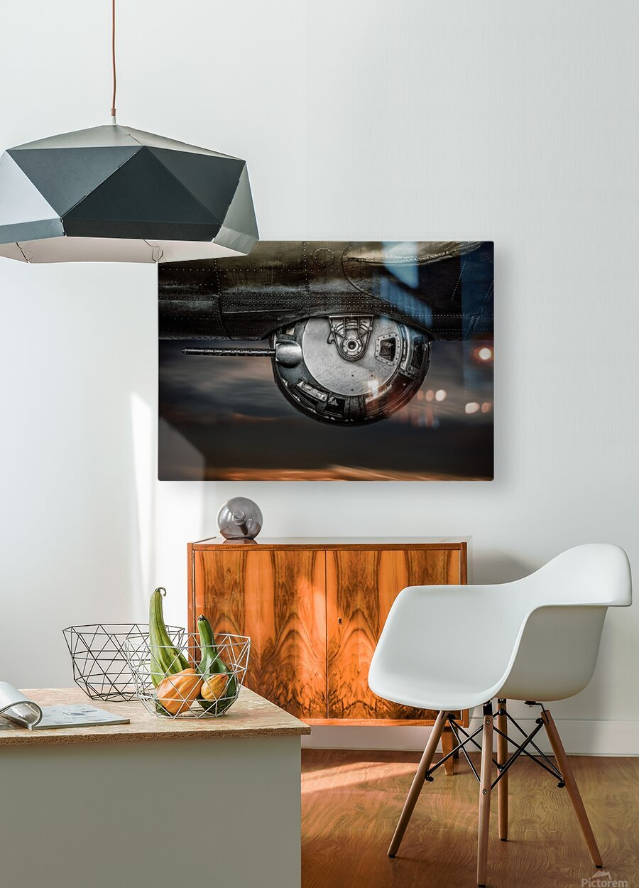 Ball Turret No 2  HD Metal print with Floating Frame on Back