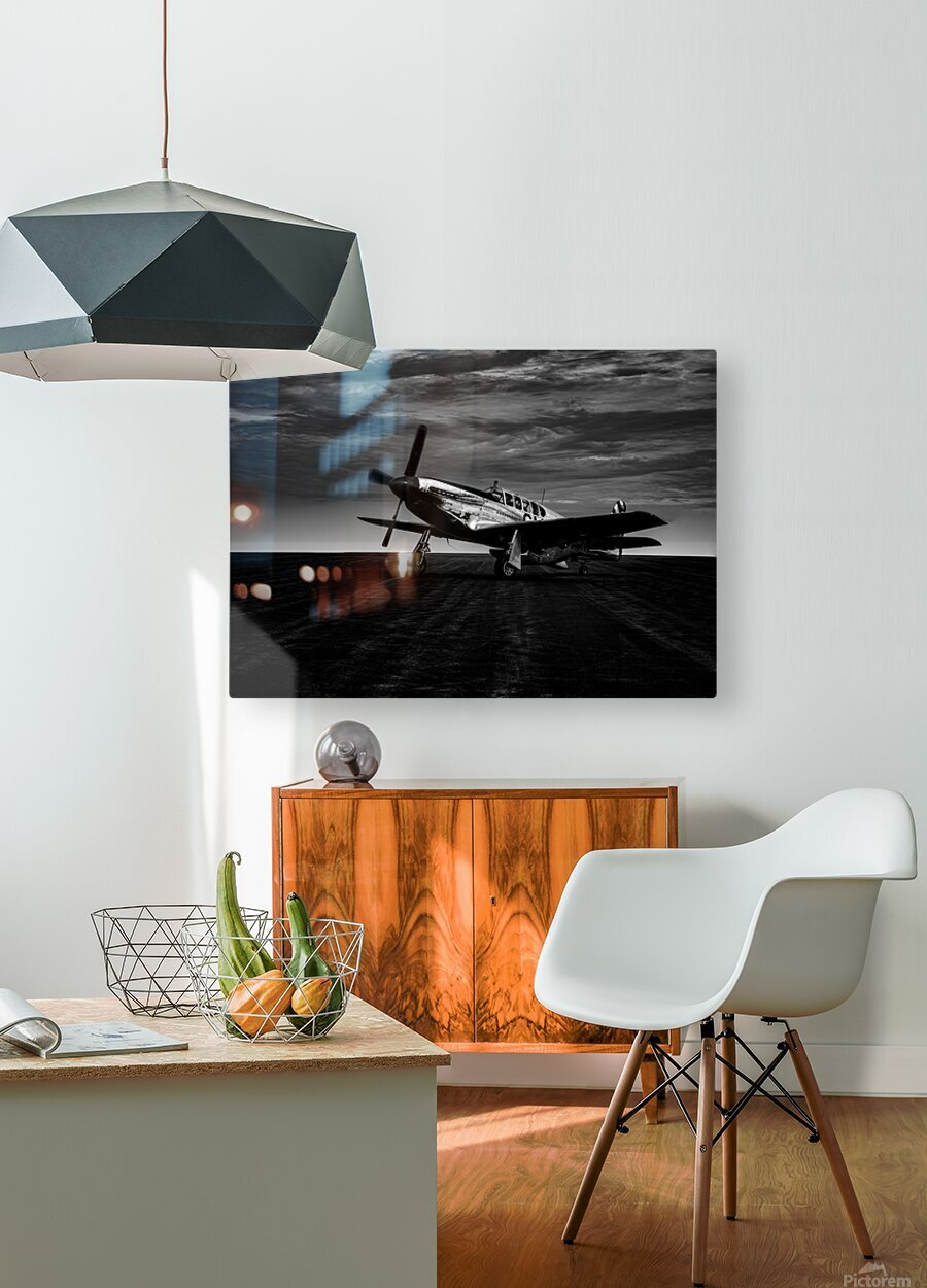 North American TP 51c  HD Metal print with Floating Frame on Back
