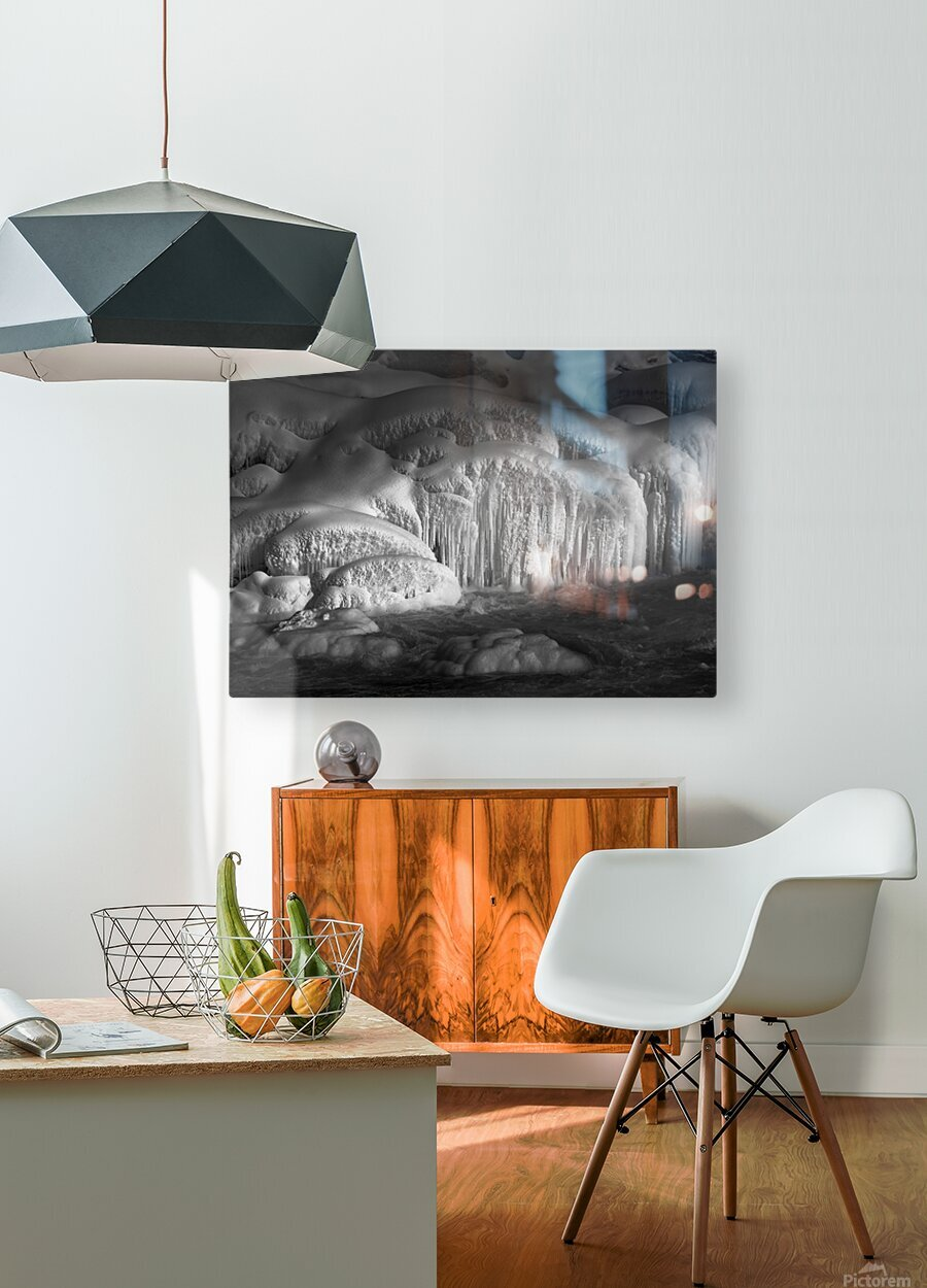 Ice Wall  HD Metal print with Floating Frame on Back