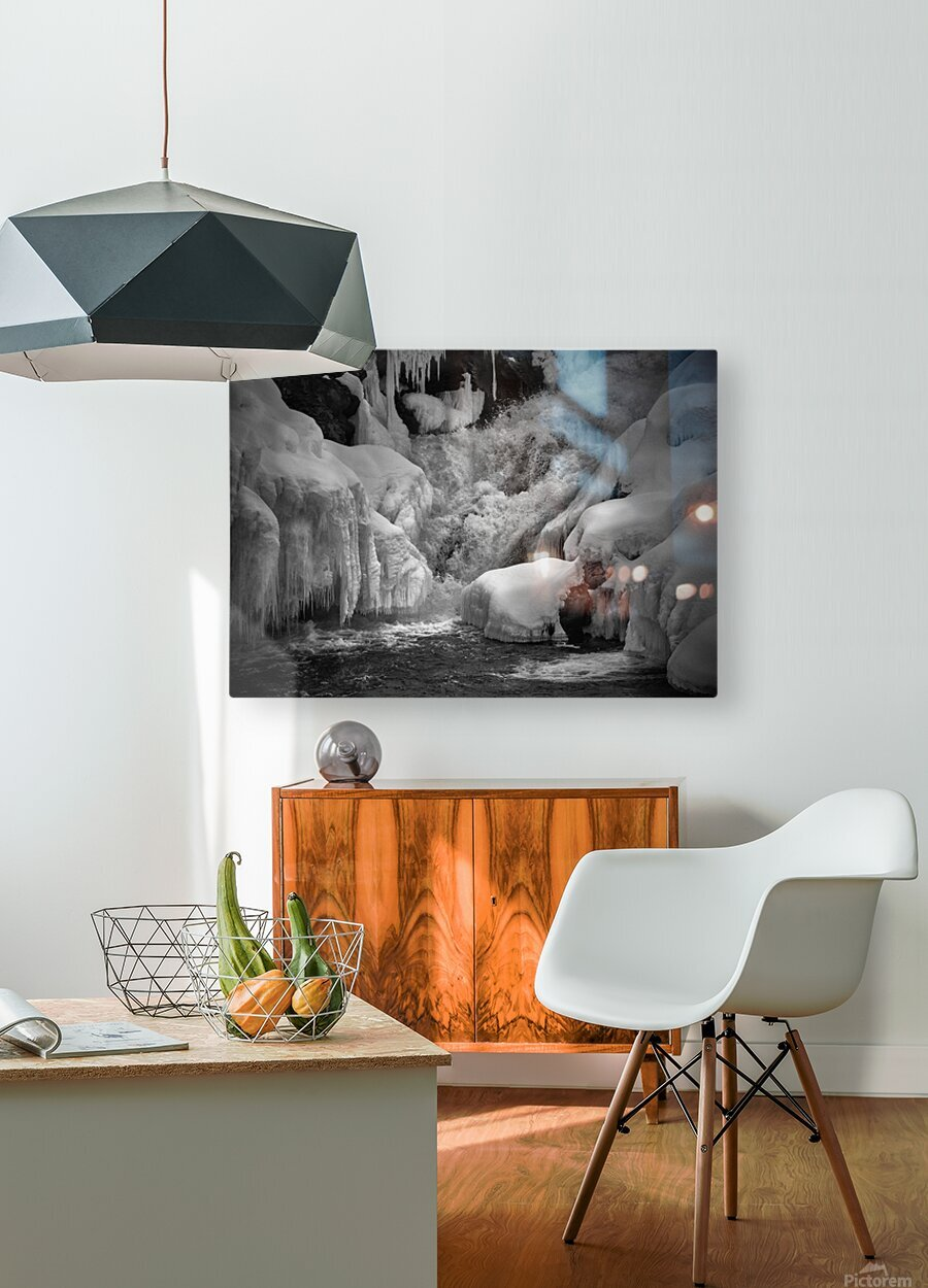 Early Spring Great Falls  HD Metal print with Floating Frame on Back