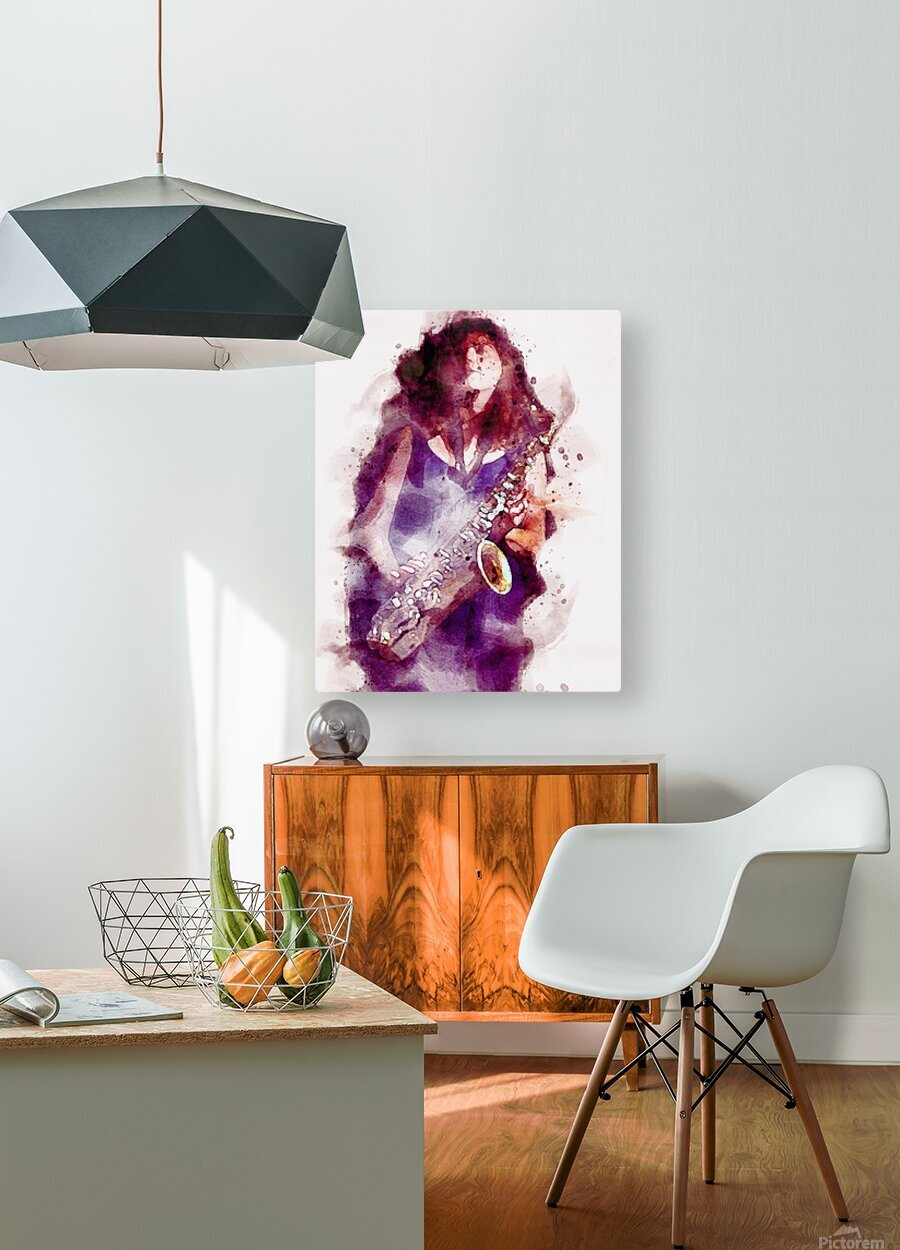 Blues In The Night  HD Metal print with Floating Frame on Back