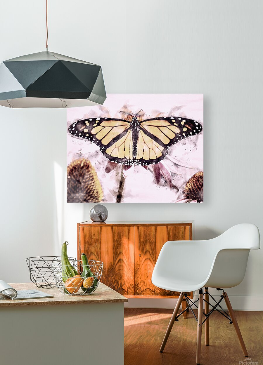 Monarch Butterfly  HD Metal print with Floating Frame on Back