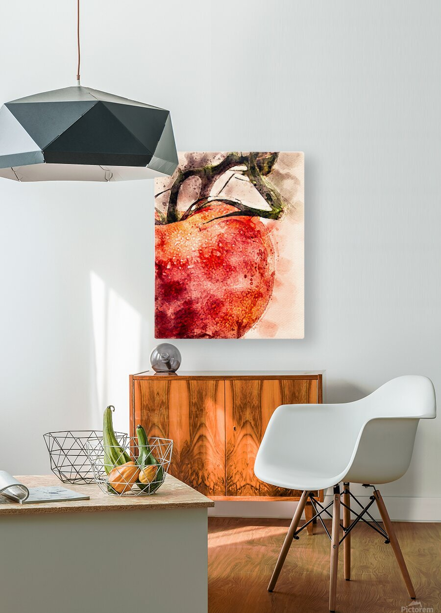 Tomato  HD Metal print with Floating Frame on Back