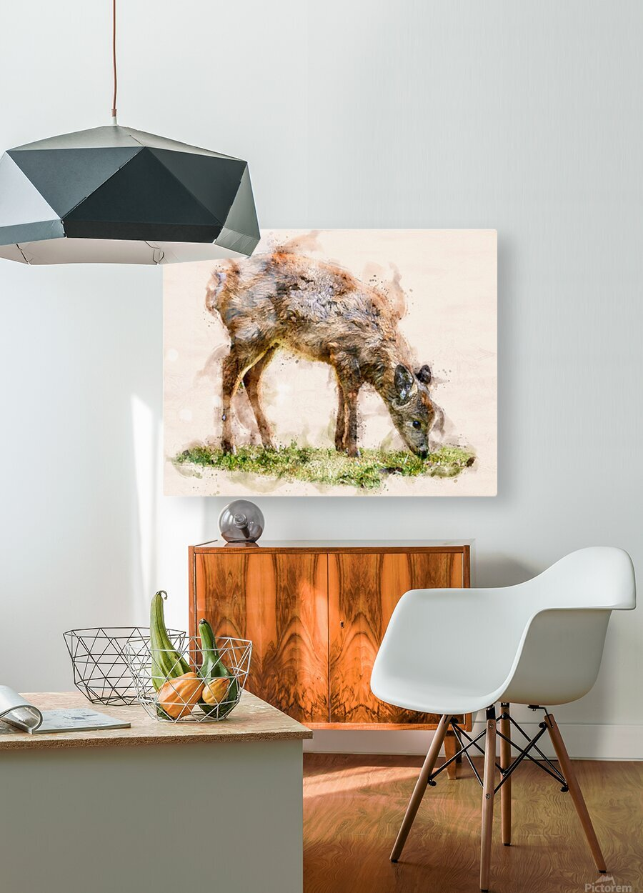 White Tail Deer  HD Metal print with Floating Frame on Back