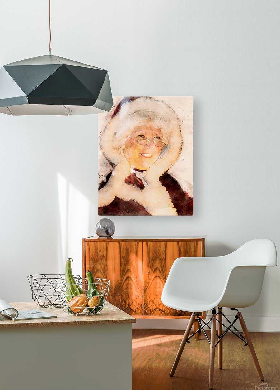 Mrs. Santa Claus  HD Metal print with Floating Frame on Back