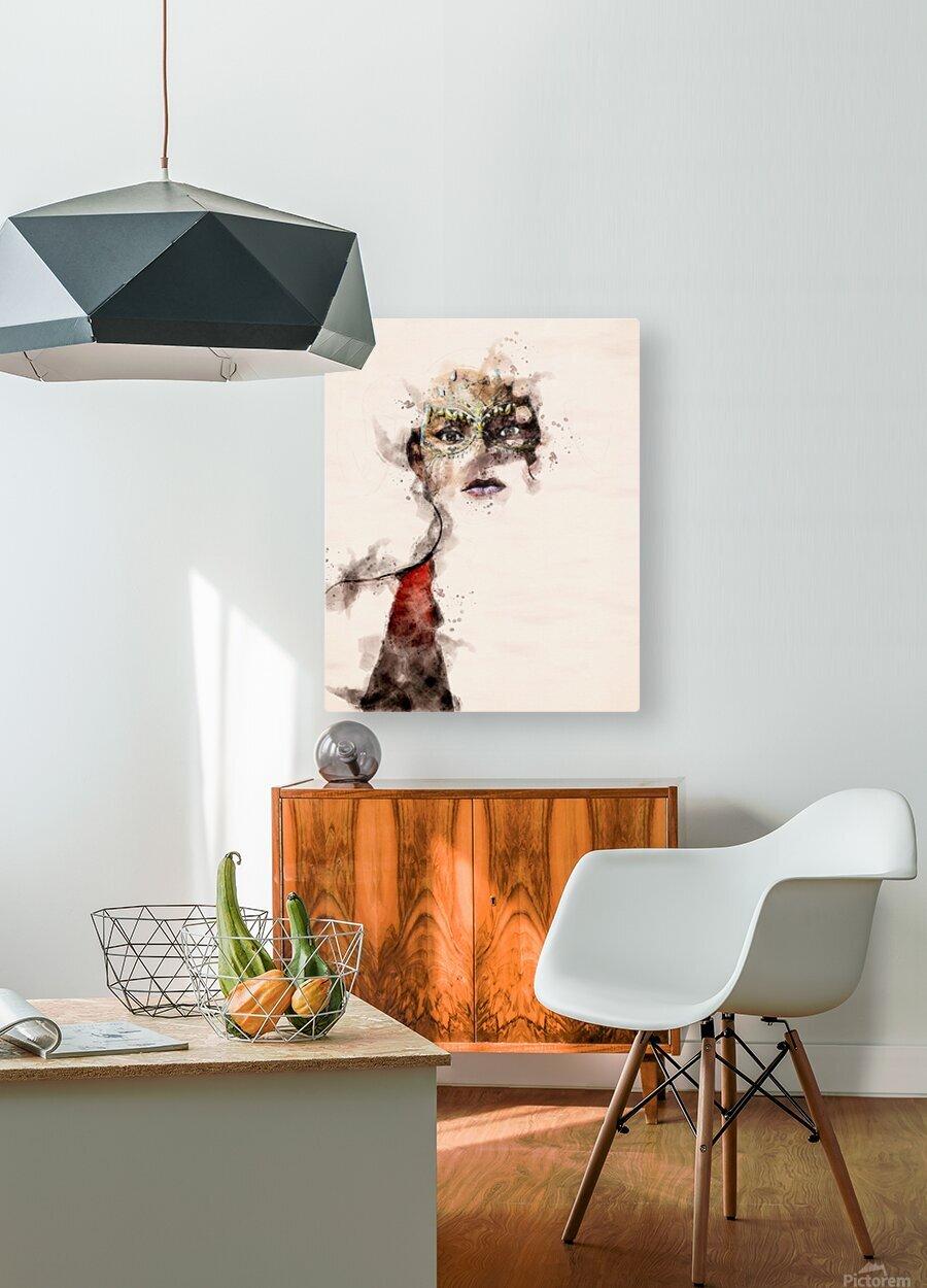 Belle dame du masque  HD Metal print with Floating Frame on Back