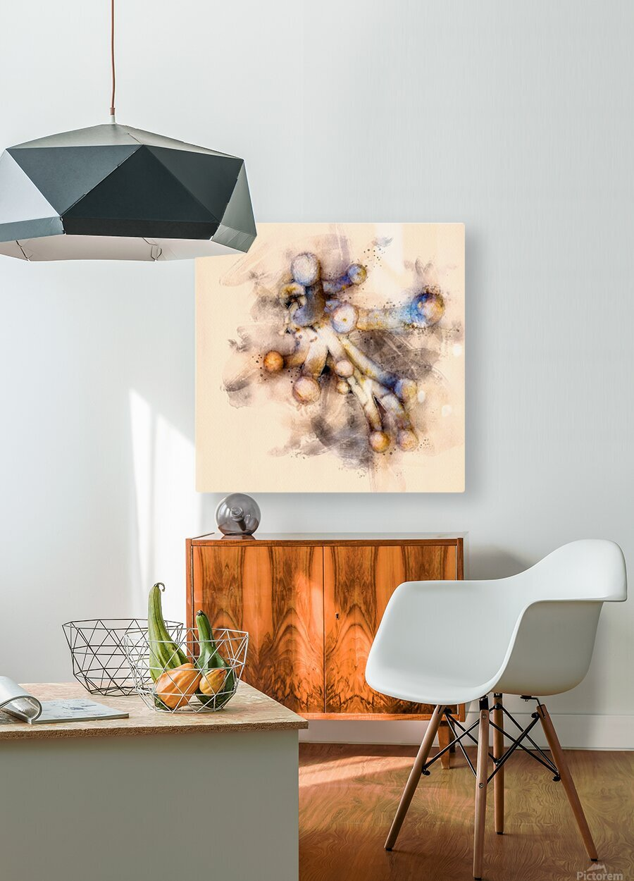 Tasty Mushroom Abstract  HD Metal print with Floating Frame on Back