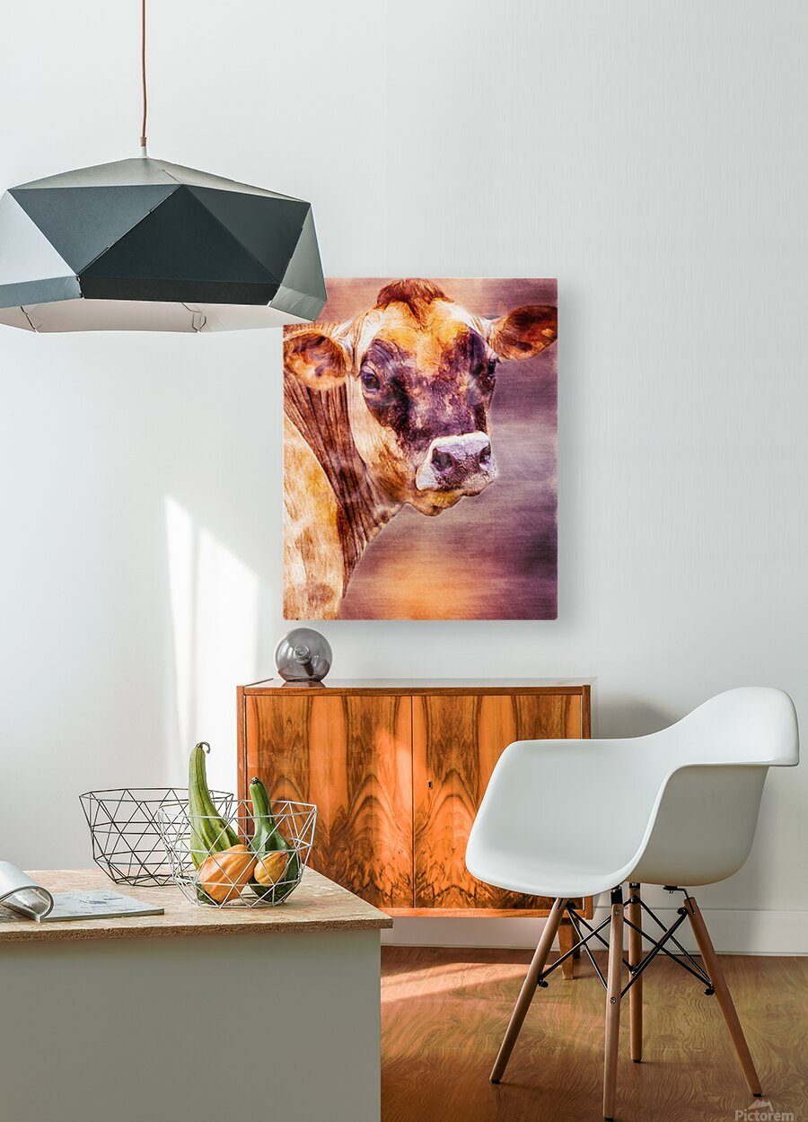 Beautiful Dairy Cow  HD Metal print with Floating Frame on Back