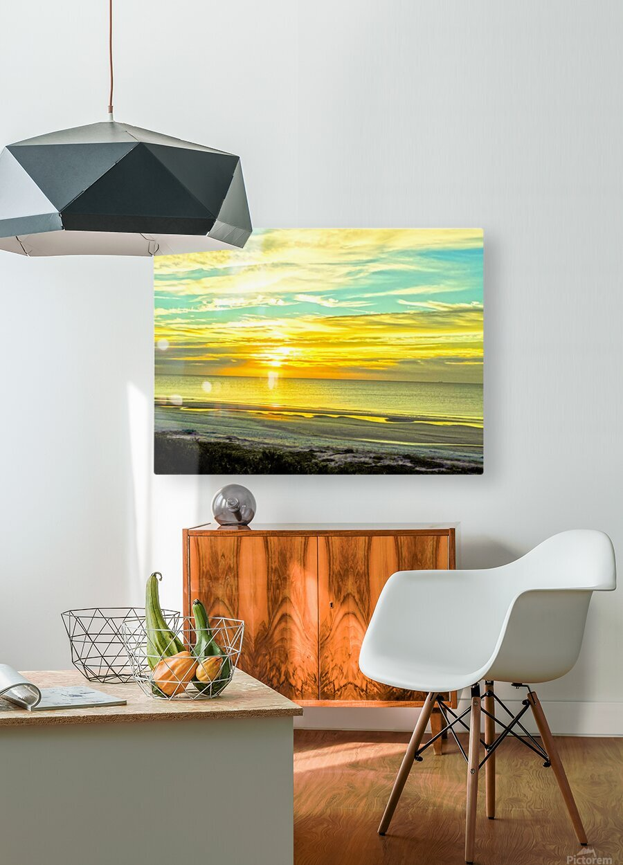 Sunrise in the Carolinas  HD Metal print with Floating Frame on Back