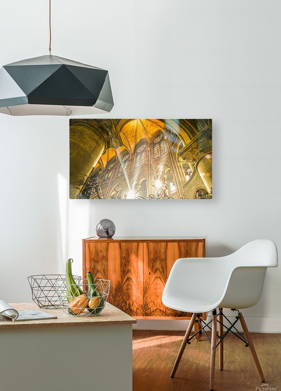 Divine Light  HD Metal print with Floating Frame on Back