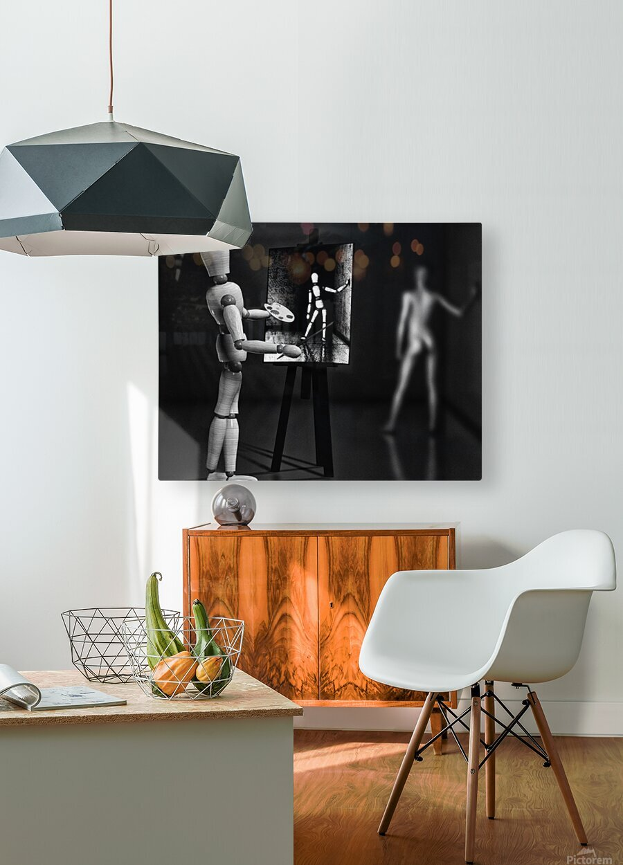 Nude Model  HD Metal print with Floating Frame on Back