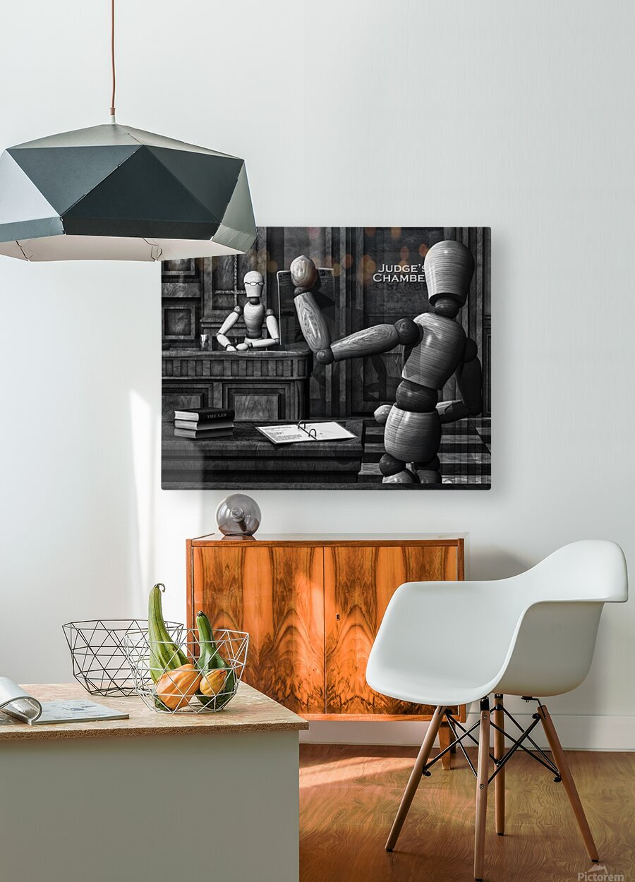 Witness For The State  HD Metal print with Floating Frame on Back