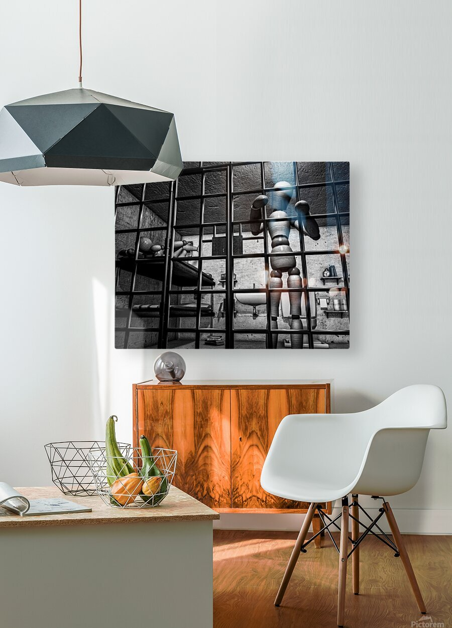 Cell Mates  HD Metal print with Floating Frame on Back
