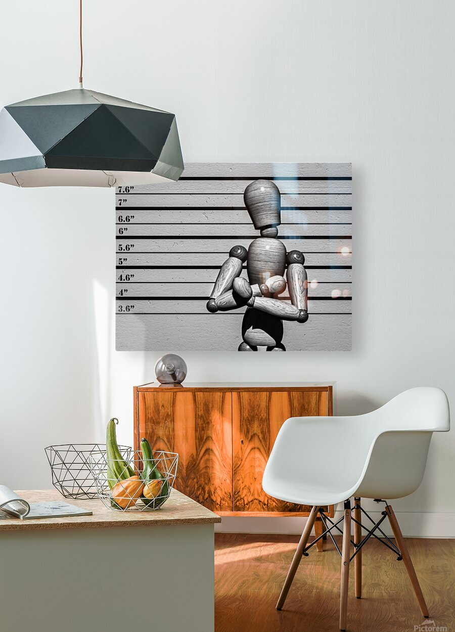 Arrested  HD Metal print with Floating Frame on Back