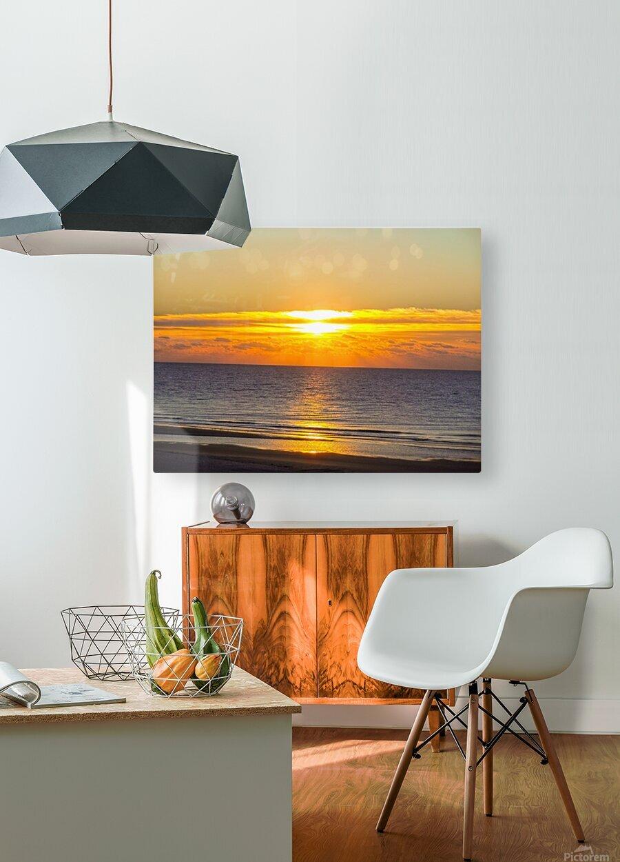 Blue Morning Sunrise  HD Metal print with Floating Frame on Back