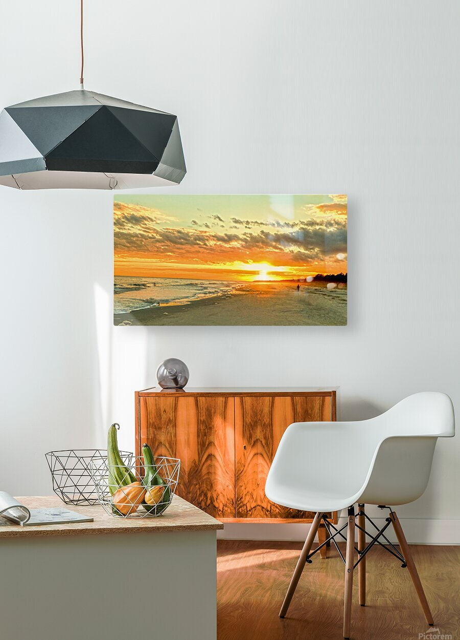 The Carolina Sunset  HD Metal print with Floating Frame on Back