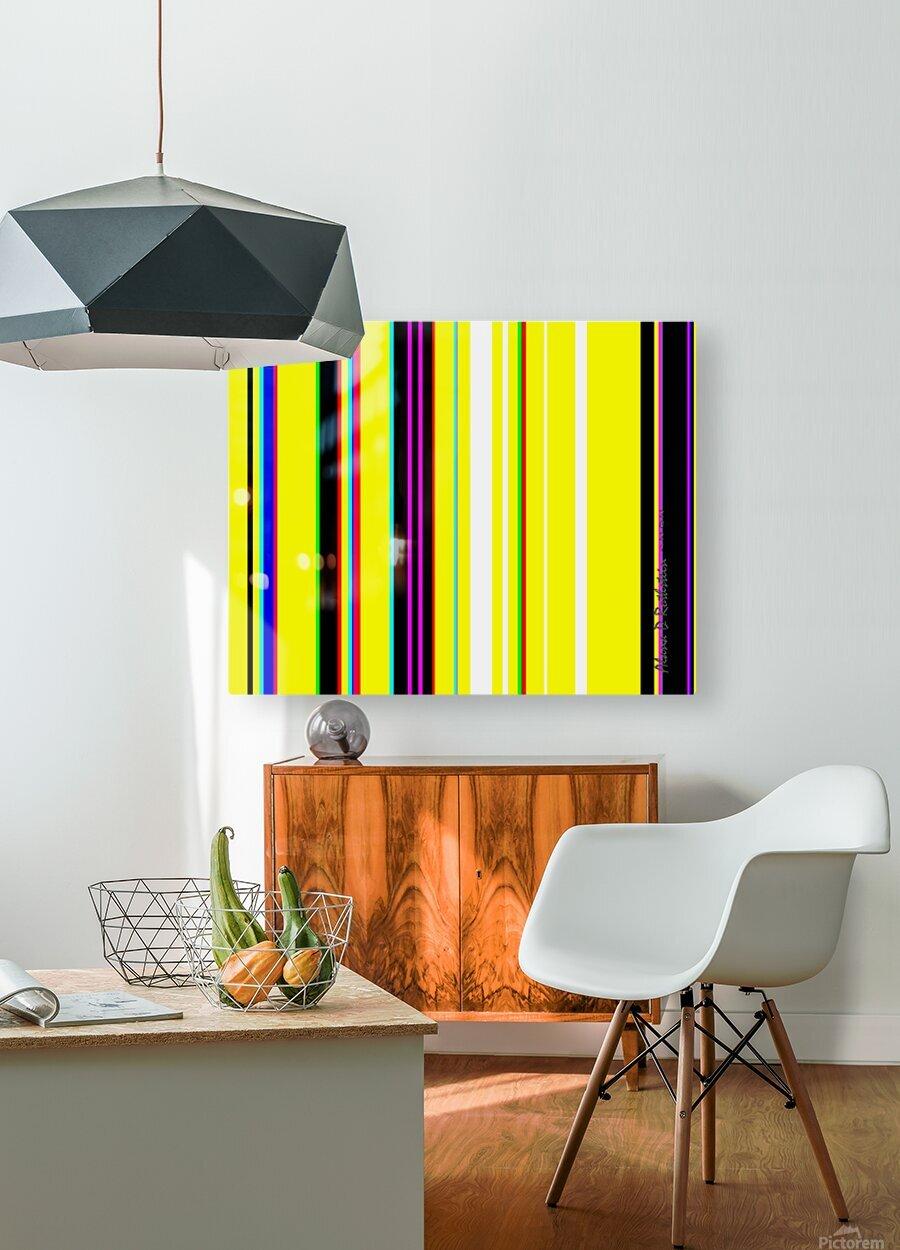 Color Bars 2  HD Metal print with Floating Frame on Back