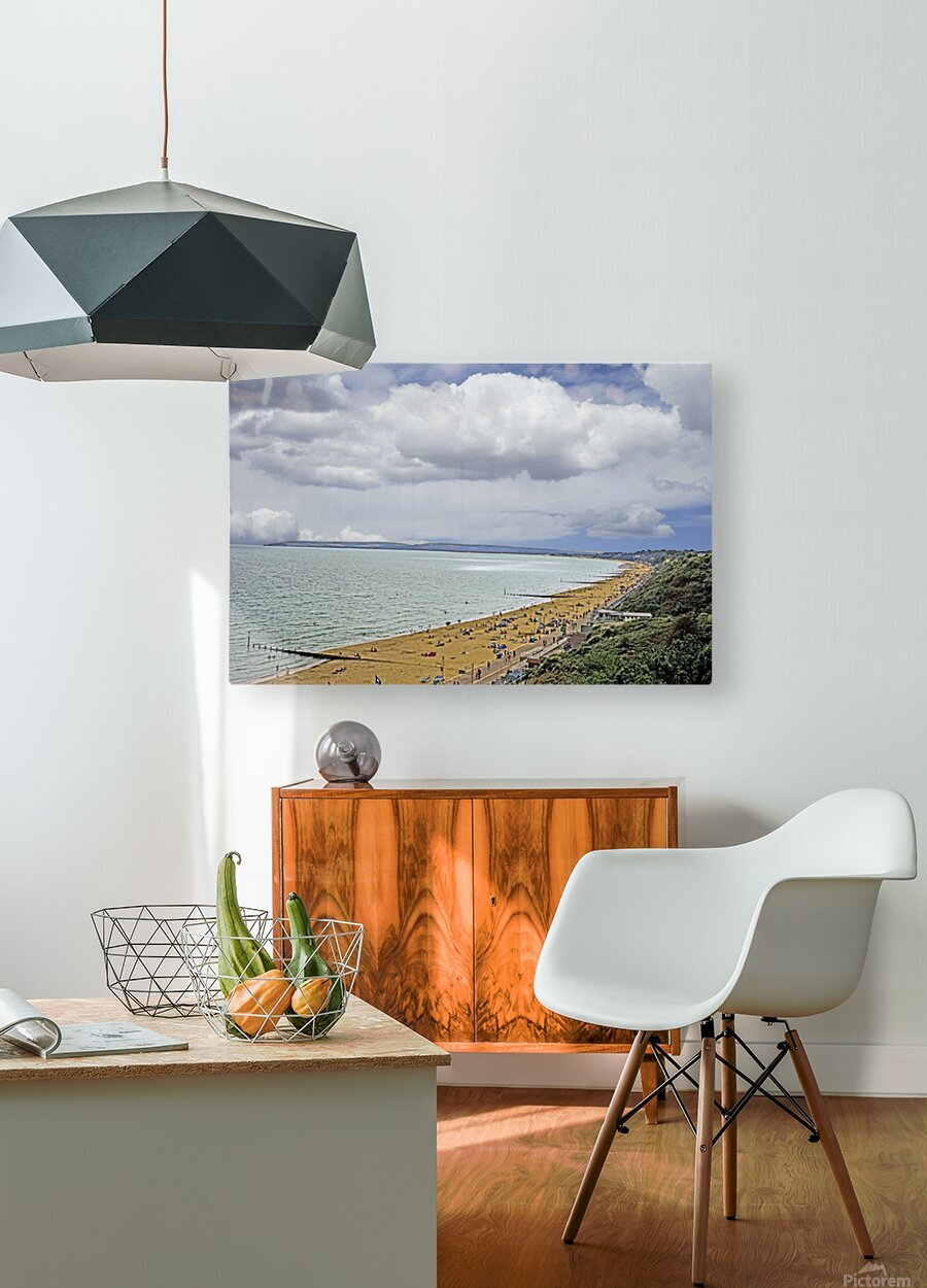 At the Beach in Southern England  HD Metal print with Floating Frame on Back