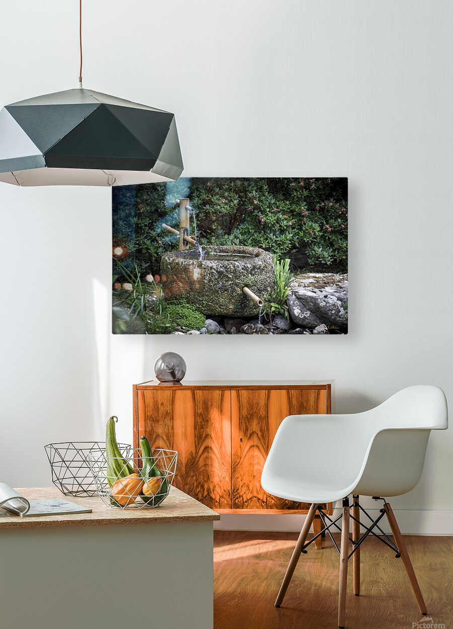 Fontaine Zen  HD Metal print with Floating Frame on Back