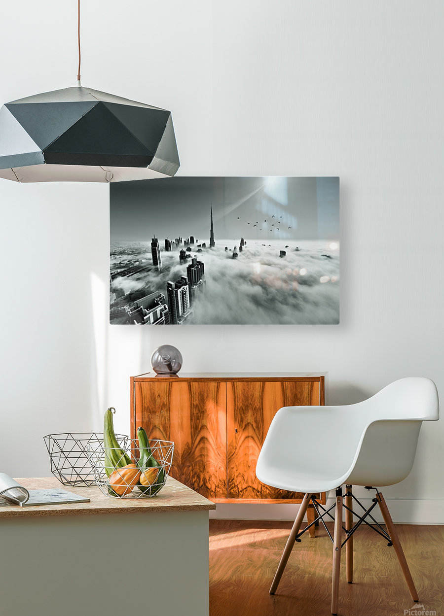 Up up and Above  HD Metal print with Floating Frame on Back