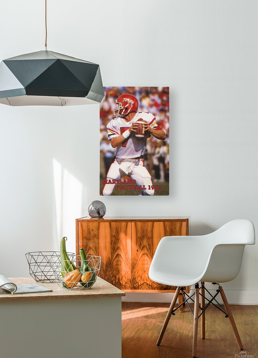 1983 Maryland Football Boomer Esiason  HD Metal print with Floating Frame on Back