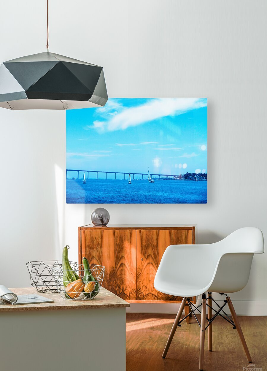 The Bay @ San Diego  HD Metal print with Floating Frame on Back