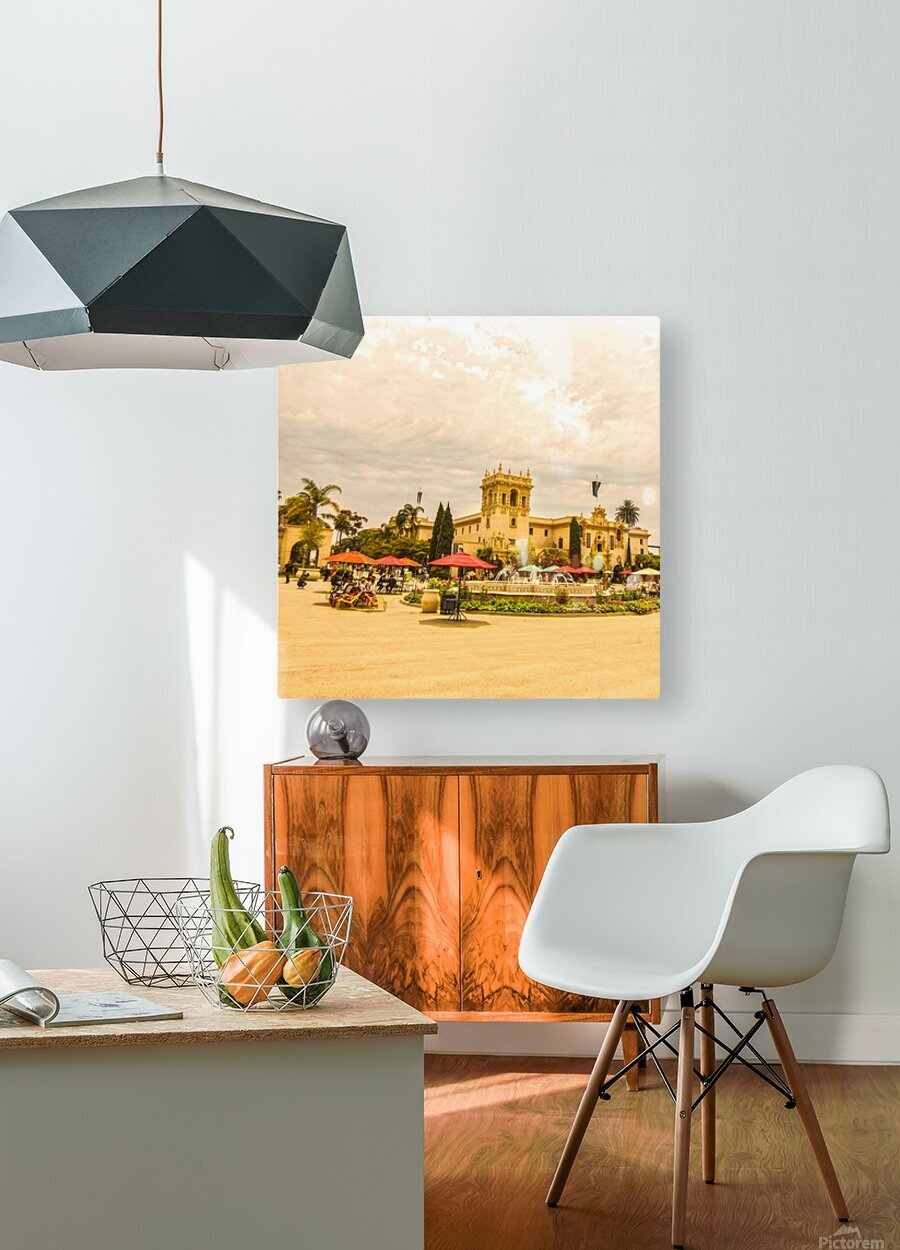 One Day in San Diego  HD Metal print with Floating Frame on Back