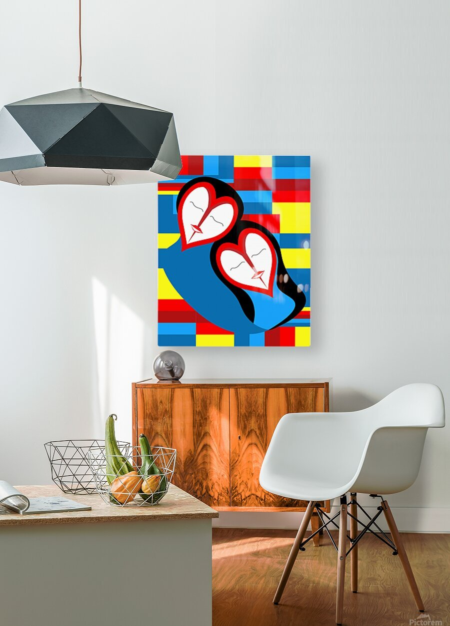 Hearts in Love  HD Metal print with Floating Frame on Back