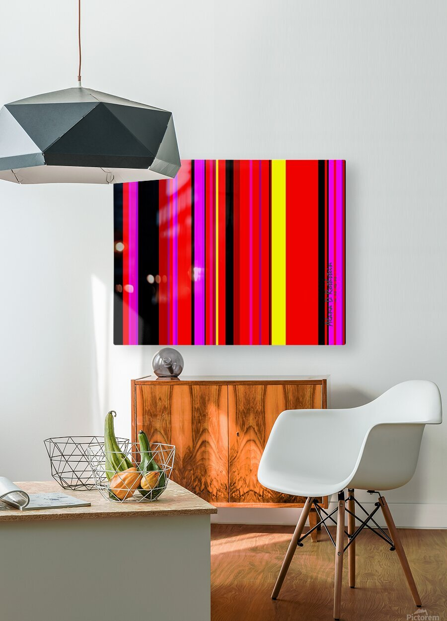 Color Bars 1  HD Metal print with Floating Frame on Back