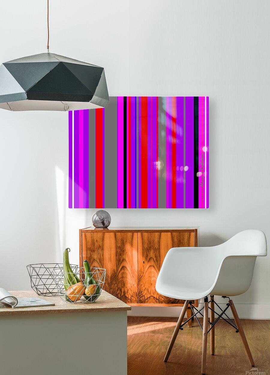Color Bars 4  HD Metal print with Floating Frame on Back