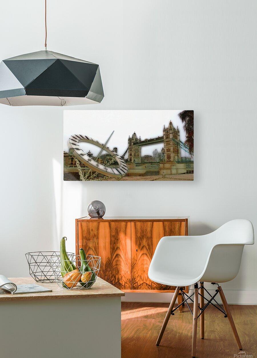 London fine art  - Tower bridge  Impression métal HD avec cadre flottant sur le dos