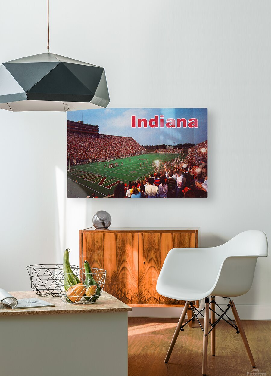 1986 Indiana Football Memorial Stadium  HD Metal print with Floating Frame on Back