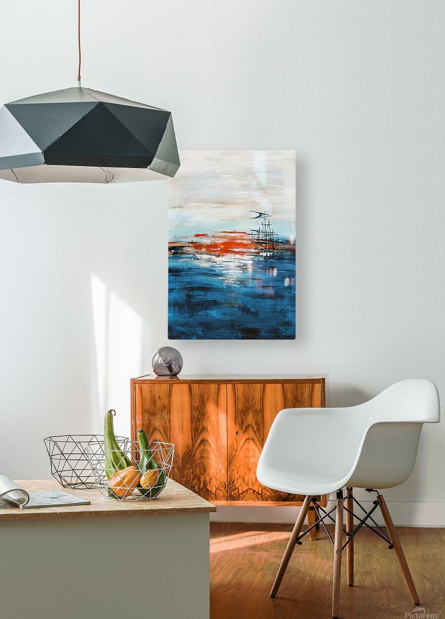 High tide IV  HD Metal print with Floating Frame on Back