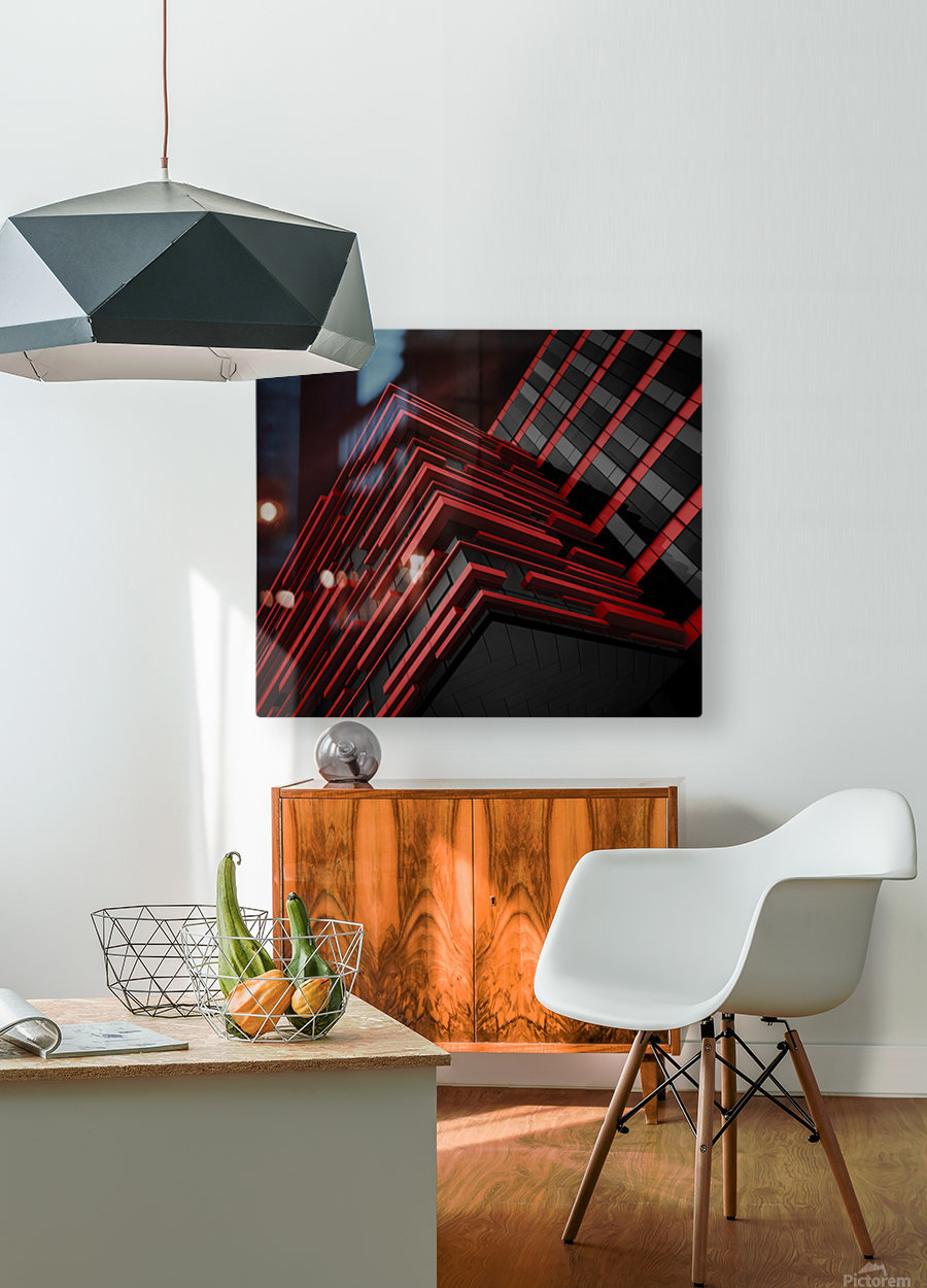 Blood Stream  HD Metal print with Floating Frame on Back