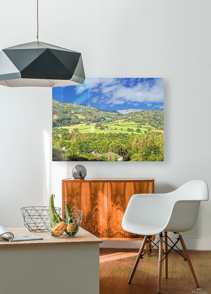 Beautiful Wales  HD Metal print with Floating Frame on Back