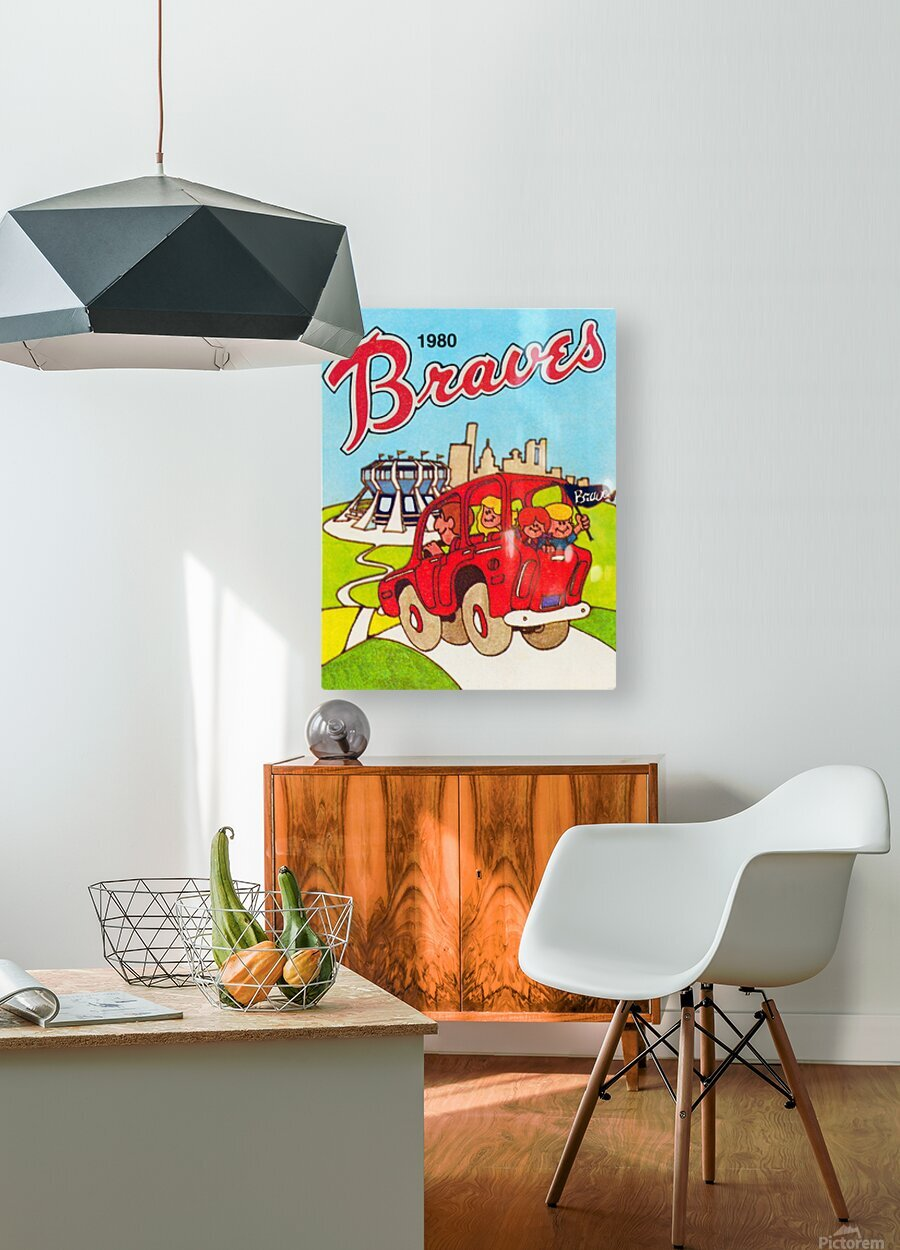1980 Atlanta Braves Poster  HD Metal print with Floating Frame on Back