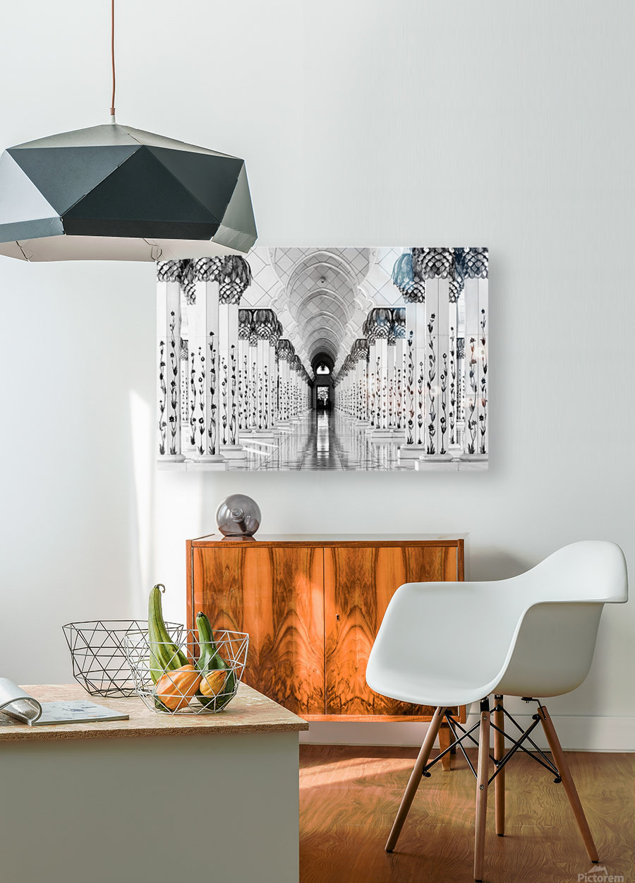 Sheik Zayed Mosque  HD Metal print with Floating Frame on Back