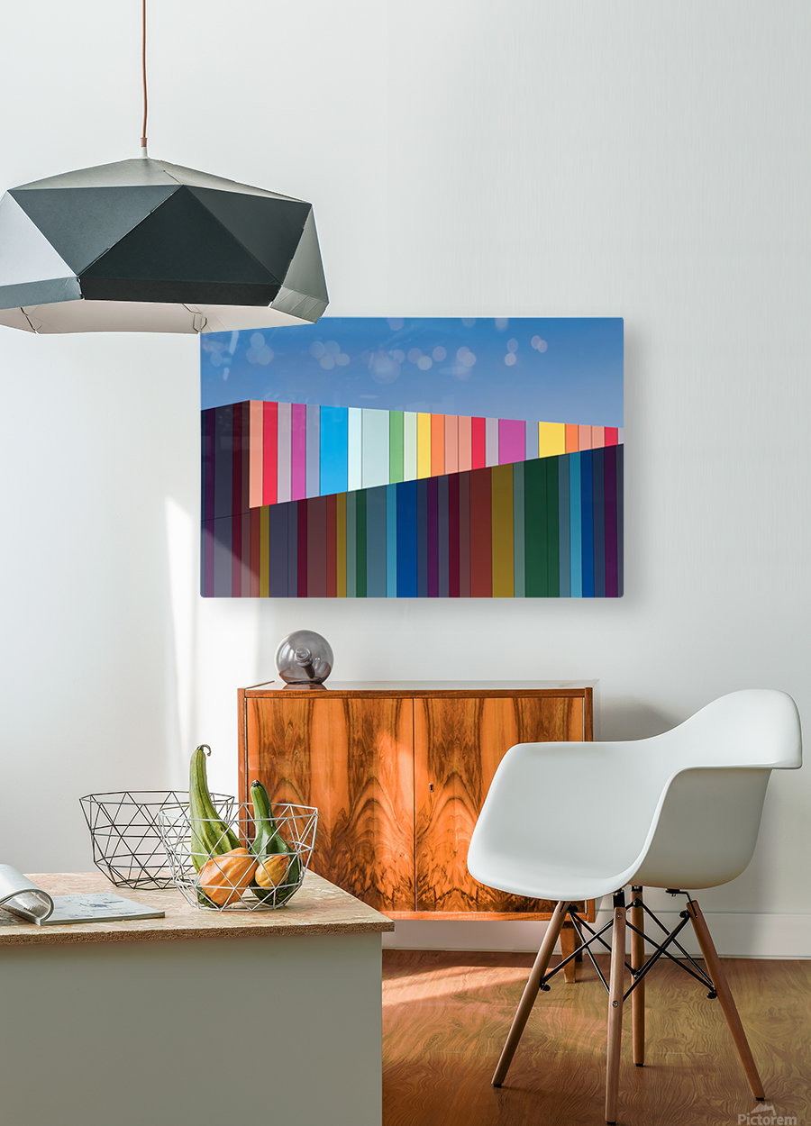 Urban candy  HD Metal print with Floating Frame on Back