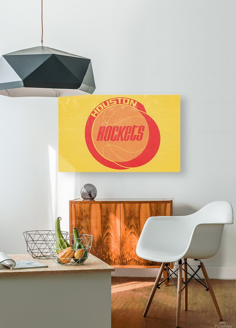 1972 Houston Rockets Art  HD Metal print with Floating Frame on Back