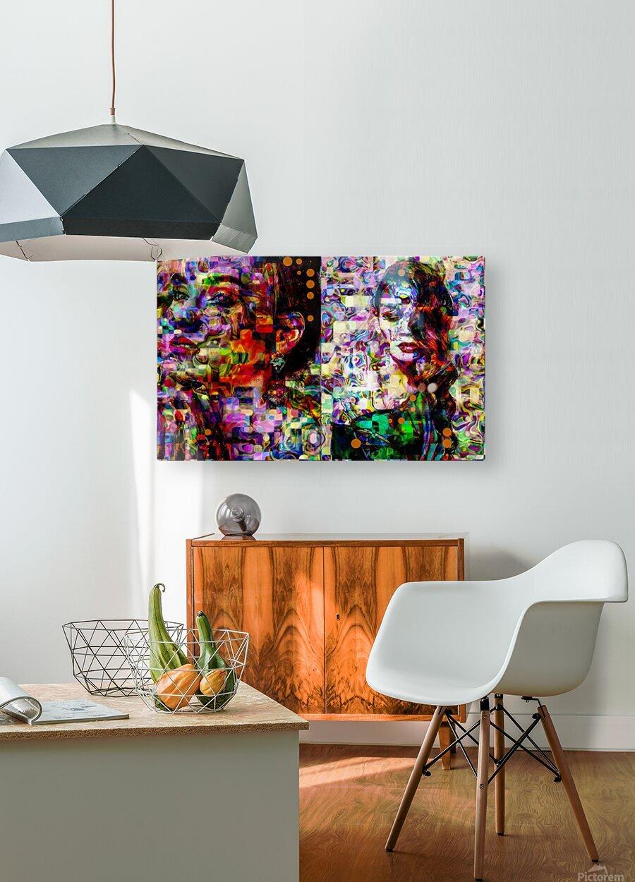 Liz fashion   HD Metal print with Floating Frame on Back