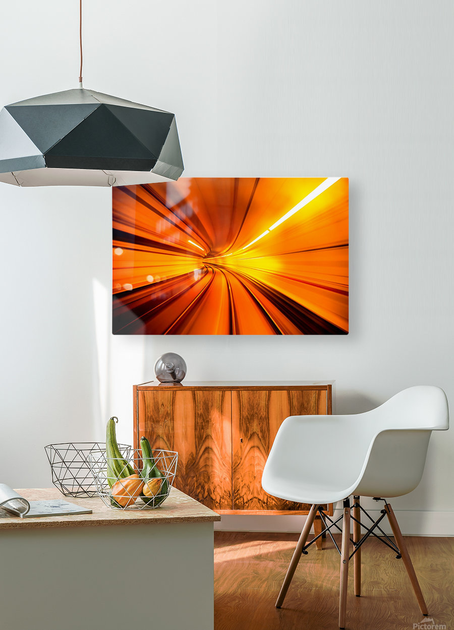 Wormhole  HD Metal print with Floating Frame on Back