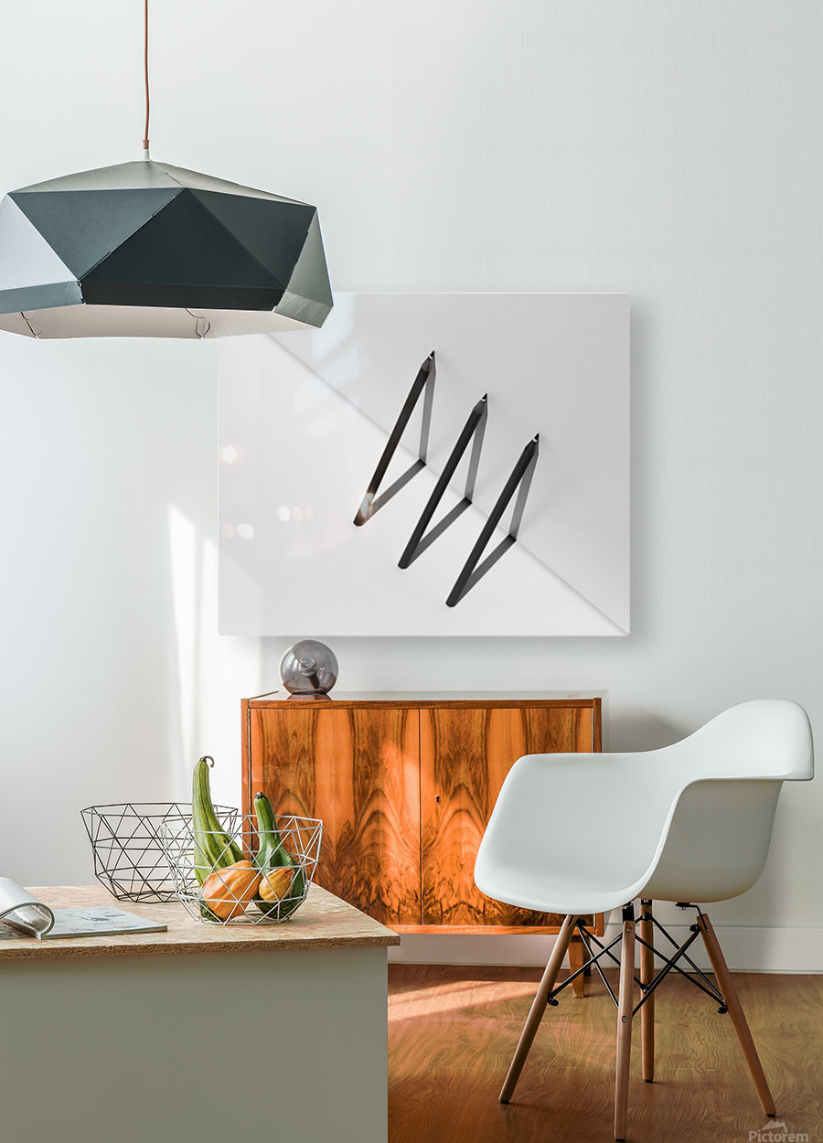 Triangles by Jacqueline Hammer   HD Metal print with Floating Frame on Back