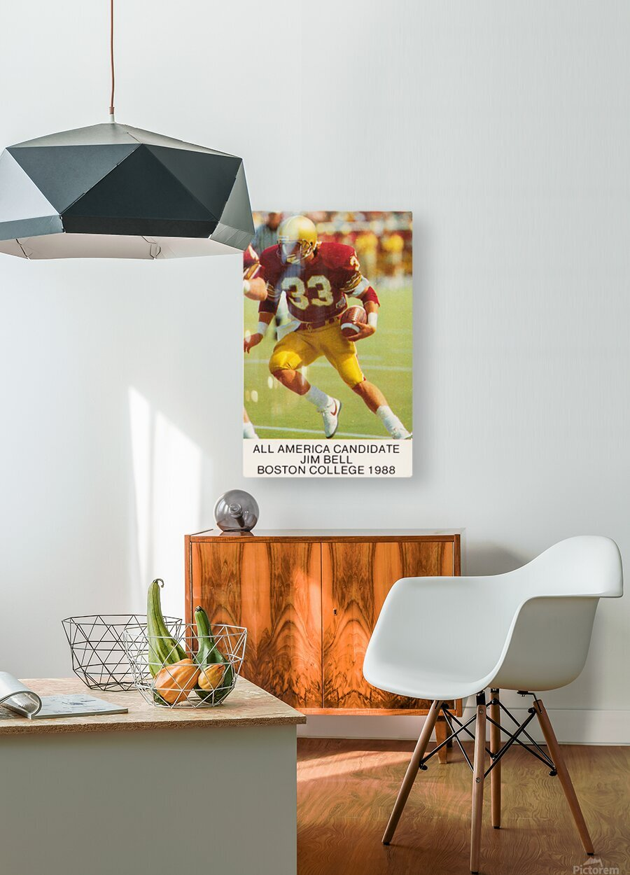 1988 Boston College Football Poster  HD Metal print with Floating Frame on Back