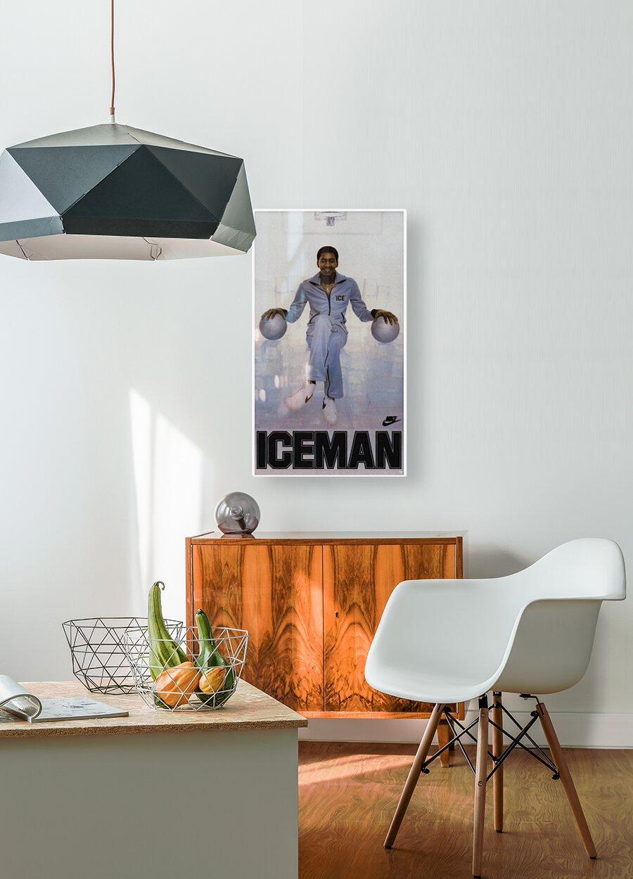 1982 George Gervin Nike Iceman Poster  HD Metal print with Floating Frame on Back