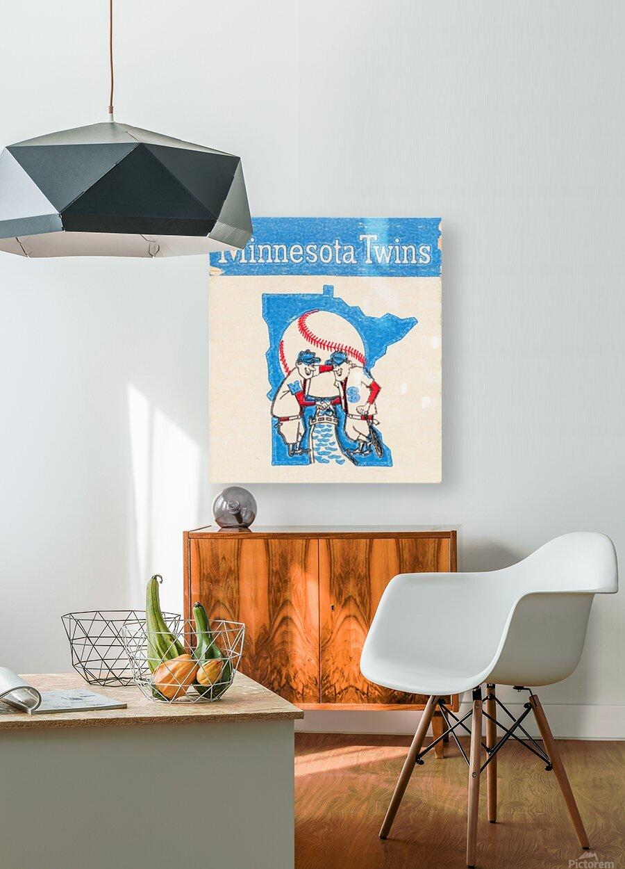 1967 Minnesota Twins Art  HD Metal print with Floating Frame on Back