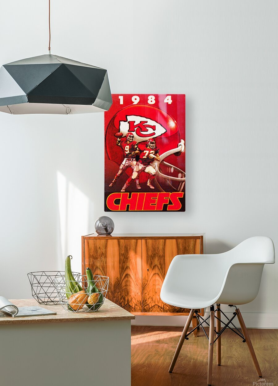 1984 Kansas City Chiefs Football Poster  HD Metal print with Floating Frame on Back