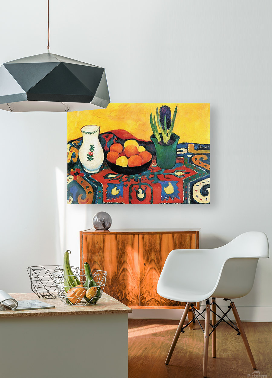 Still Life with Hyacinthe by Macke  Impression métal HD avec cadre flottant sur le dos