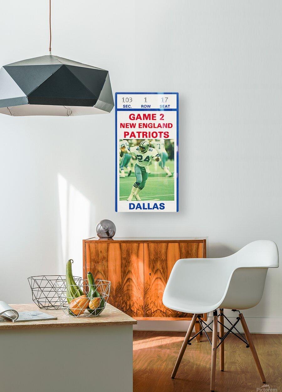1982 Dallas Cowboys Ticket Stub Wall Art  HD Metal print with Floating Frame on Back