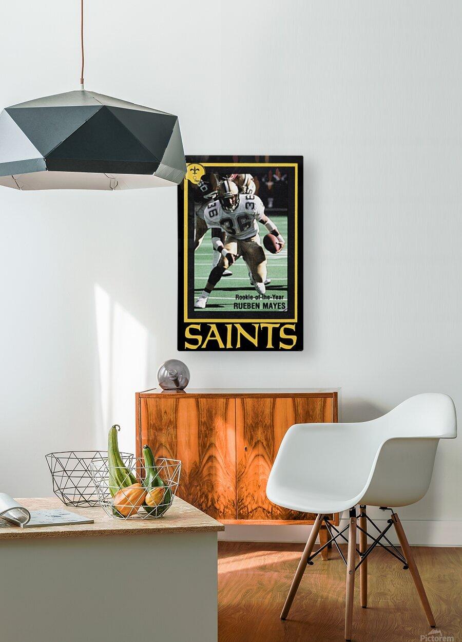 1988 New Orleans Saints Reuben Mayes Poster  HD Metal print with Floating Frame on Back