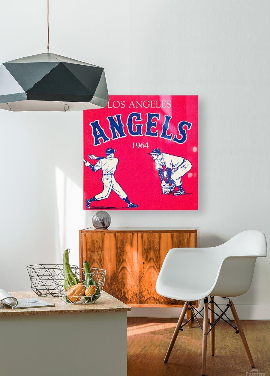 1964 Los Angeles Angels Baseball Art  HD Metal print with Floating Frame on Back